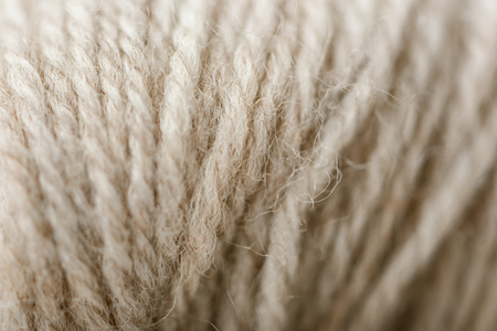 full frame of white yarn as background