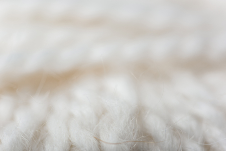 full frame of white knitting texture as backdrop Stock fotó