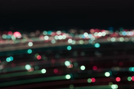 defocused multicolored bokeh lights at night 写真素材