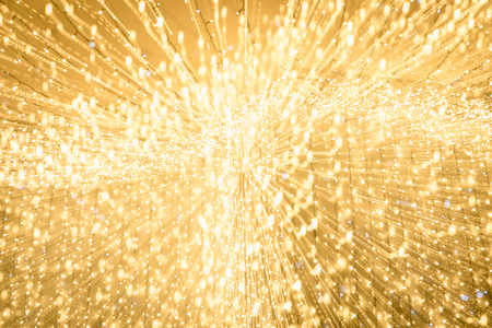 long exposure of blurred bright yellow illumination
