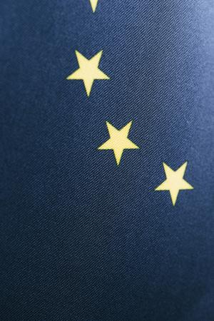 blue european flag with yellow stars