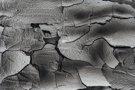 cracked barren soil surface, global warming concept