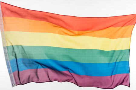 lgbt pride rainbow flag isolated on white Stock Photo
