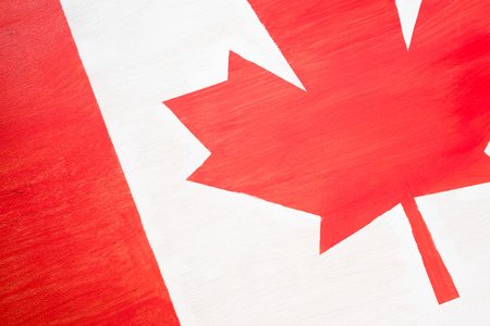 background of canadian flag with maple leaf Stock fotó