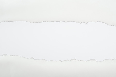 ragged textured paper with copy space on white background