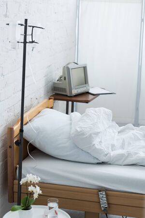 bed and equipment for intravenous therapy in clinic