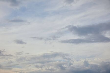 blue clouds on white sunlight sky background and copy space