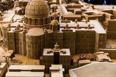 ROME, ITALY - JUNE 28, 2019: maquette of ancient Rome in Vatican Museum Editorial