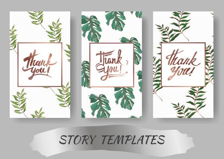 Vector Palm beach tree leaves jungle botanical. Black and white engraved ink art. Wedding background card decorative border. Thank you, rsvp, invitation elegant card illustration graphic set banner. Фото со стока