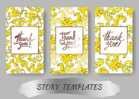 Vector Golden monogram floral ornament. Black and white engraved ink art. Wedding background card decorative border. Thank you, rsvp, invitation elegant card illustration graphic set banner. Stock Vector - 130143651