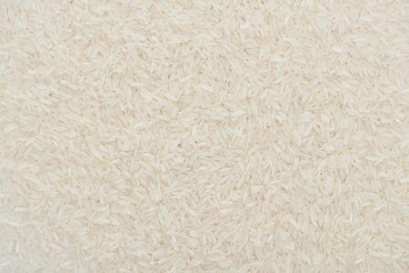 top view of raw organic white rice