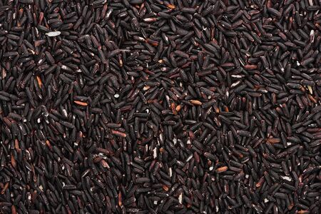 top view of unprocessed organic black rice