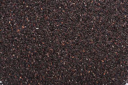 top view of raw organic black rice Stock Photo - 130304629