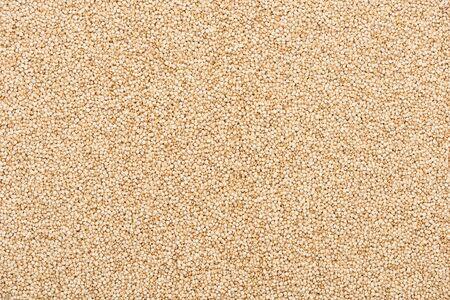 top view of unprocessed white quinoa