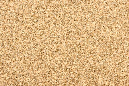 top view of organic raw white quinoa Stock Photo