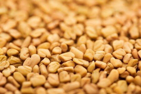 close up view of uncooked bulgur whole grains Stock Photo