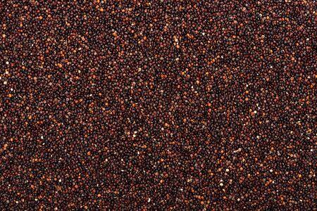 top view of raw organic black quinoa