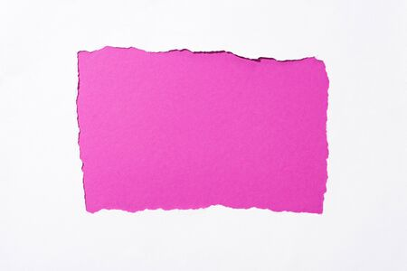 crimson colorful background in white torn paper hole