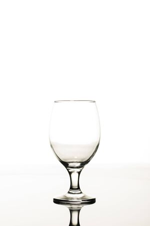 empty transparent glass isolated on white