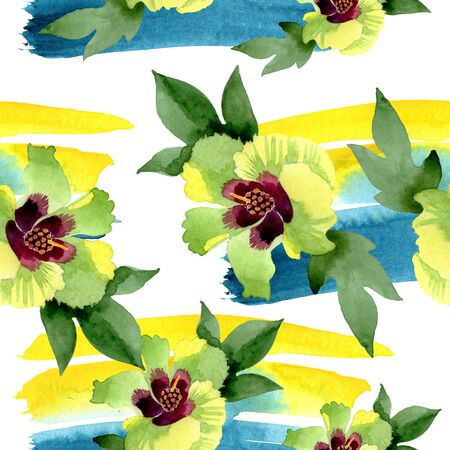 Cotton floral botanical flowers. Wild spring leaf wildflower isolated.  background illustration set. Watercolour drawing fashion aquarelle. Isolated cotton illustration element.