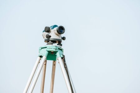 Digital level for geodesy measuring on tripod