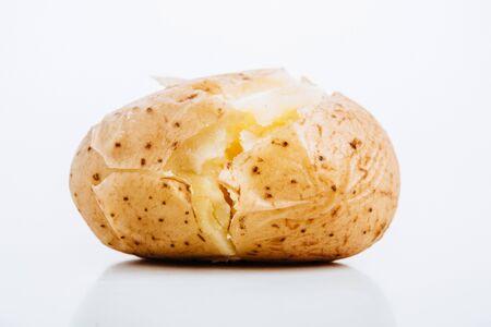 delicious jacket potato on white background Stock Photo