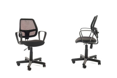 Two black office chairs isolated on white Reklamní fotografie