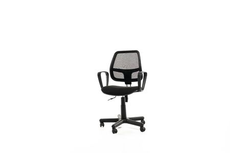 Comfortable office chair with copy space isolated on white 版權商用圖片