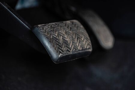 close up view of brake pedal in car 版權商用圖片