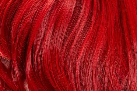Close up view of red colored hair