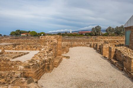 ancient House of Theseus ruins in cyprus