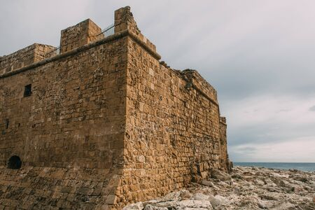 old historical castle of paphos in cyprus Imagens
