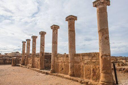 columns and walls of ancient House of Theseus