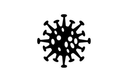 black virus bacteria on white background