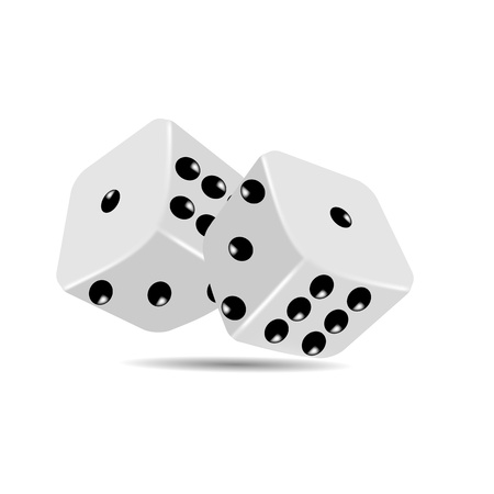Pair of dices on white background ,IllustratorCS4