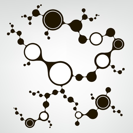 deoxyribose: DNA molecule structure background  eps10 vector illustration