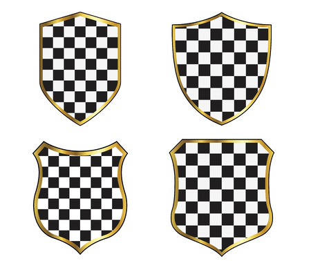 shield: Shield frames set  on the white background. Vector illustration