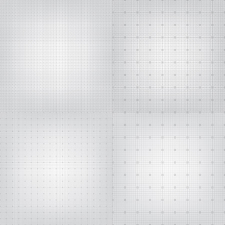 graphing: Set of blueprint graphing paper grid background. Vector  format in different line styles Illustration