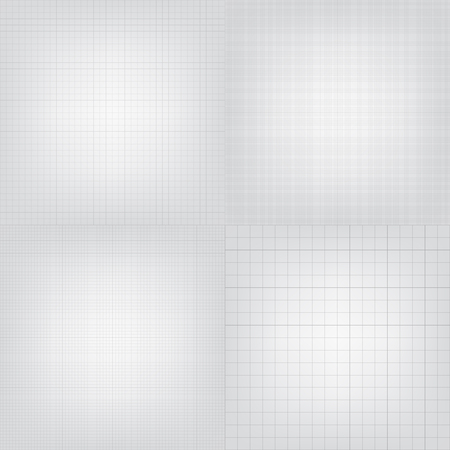 Set of blueprint graphing paper grid background. Vector format in different line styles