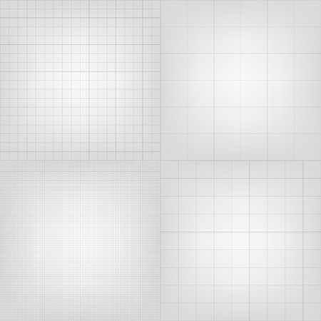 graphing: Set of blueprint graphing paper grid background. Vector EPS10 format in different line styles