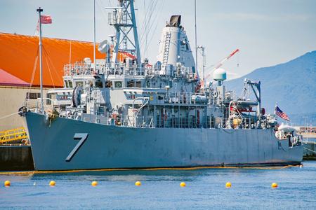 defense facilities: Minesweeping ship Patriot of the US Navy Seventh Fleet