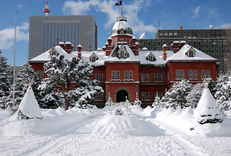 vestibular: Historic building in the Snow