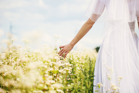 sanctification: Bride in nature