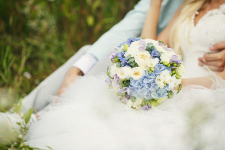 sanctification: Lush wedding bouquet