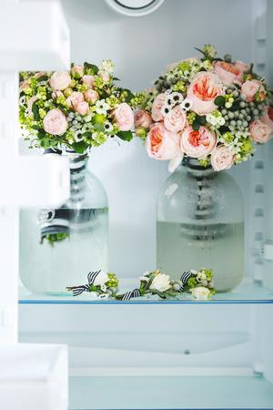 sanctification: Two lush bridal bouquet
