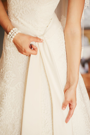 sanctification: Wedding Dress Stock Photo