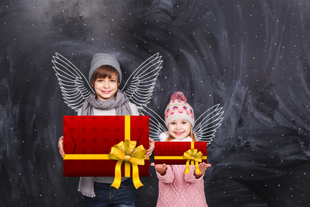 Little angels with gifts photo
