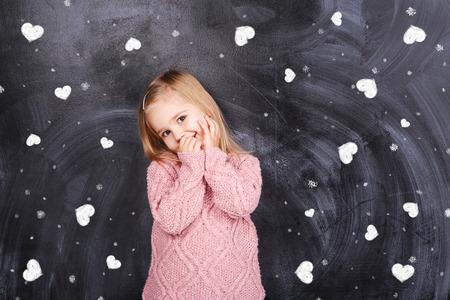 Little girl in love photo