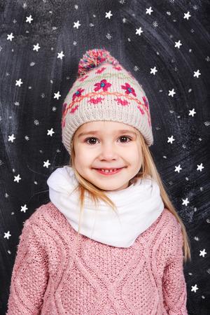 Portrait of a little girl photo