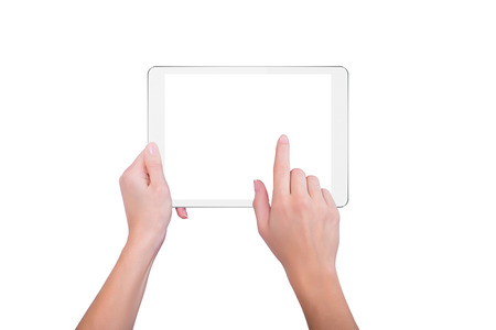 hold hands: Girl holds a plate and tap the screen